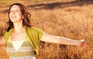 Woman Feeling Inner Peace & Joy