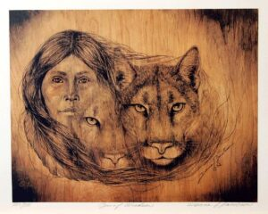 Sisters In Spirit by Donna Jacobson - Representing The Shamanic Bond